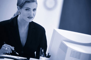 Business woman - IT consulting for all your data recovery, spyware, and network needs